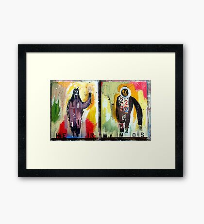 HERMANOS 1&2  (brothers 1&2) Framed Print
