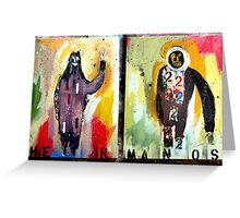 HERMANOS 1&2  (brothers 1&2) Greeting Card