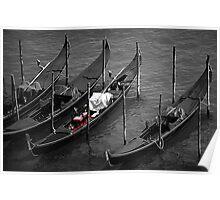 Gondole in Laguna Poster