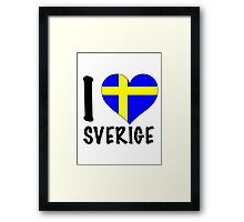i love sweden Framed Print