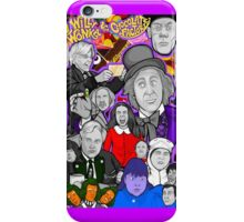 willy wonka and the chocolate factory character collage iPhone Case/Skin