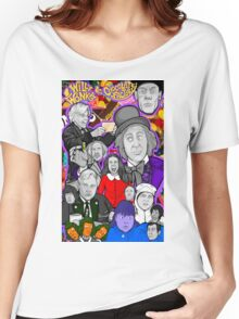 willy wonka and the chocolate factory character collage Women's Relaxed Fit T-Shirt