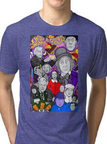willy wonka and the chocolate factory character collage Tri-blend T-Shirt