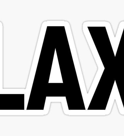 LAX Los Angeles International Airport Black Ink Sticker