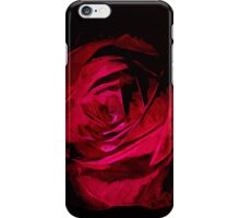 Rose In Darkness Abstract Impressionism iPhone Case/Skin