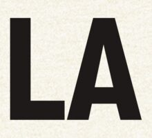 Los Angeles LA or Louisiana LA Black Ink by FreshThreadShop