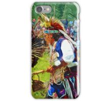 American Indian Pow Wow Dancer Abstract Impressionism iPhone Case/Skin