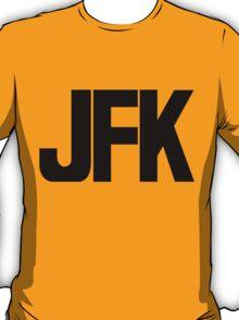 JFK John F Kennedy International Airport Black Ink T-Shirt