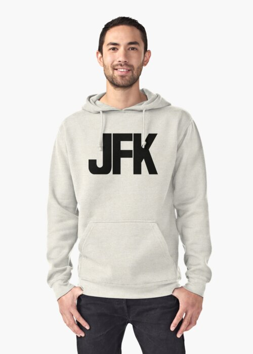 JFK John F Kennedy International Airport Black Ink by FreshThreadShop