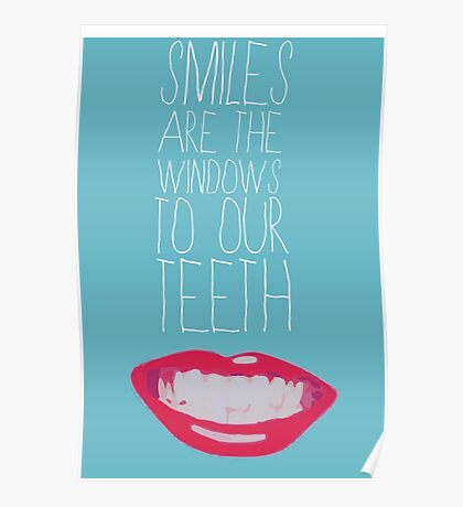 Amy Schumer Smiles Are the Windows to Our Teeth Poster