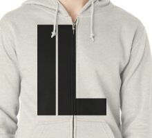 Illinois IL Black Ink Zipped Hoodie
