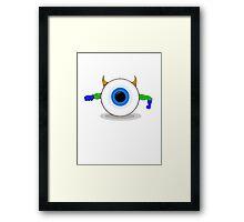 SUPER EYE! Framed Print