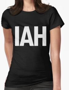 IAH Houston International Airport White Ink Womens Fitted T-Shirt