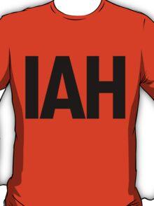 IAH Houston International Airport Black Ink T-Shirt