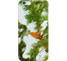Pine Cone With Snow Abstract Impressionism iPhone Case/Skin
