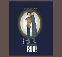 Sherlock Holmes & Dr. Who, When I say run, RUN! Quote, spotlight, phone box, classic Kids Clothes