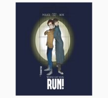 Sherlock Holmes & Dr. Who, When I say run, RUN! Quote, spotlight, phone box, classic Kids Clothes