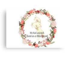 Unicorn - Forest Quote Canvas Print