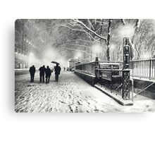 Winter Night - New York City Canvas Print