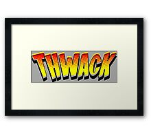 Thwack! Comic Book Sound Effect Framed Print