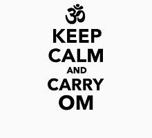 Keep calm and carry om Womens Fitted T-Shirt