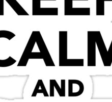 Keep calm and craft on Sticker