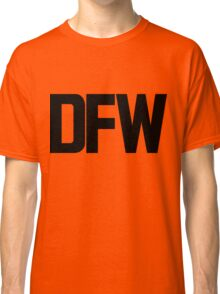 DFW Dallas Fort Worth International Airport Black Ink Classic T-Shirt