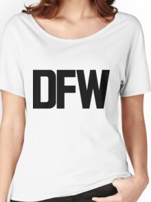 DFW Dallas Fort Worth International Airport Black Ink Women's Relaxed Fit T-Shirt