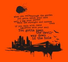 """""""Way Down In The Hole"""" - The Wire - Dark Kids Clothes"""