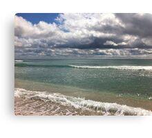 beach storm 4 Canvas Print