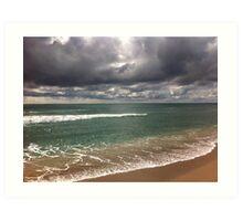 beach storm 5 Art Print