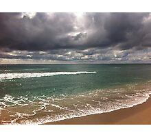 beach storm 5 Photographic Print