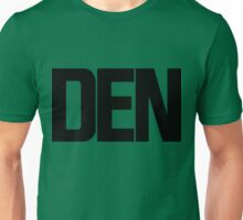 DEN Denver International Airport Black Ink Unisex T-Shirt