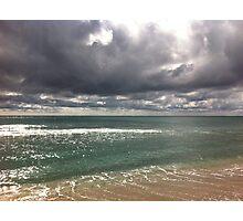beach storm 6 Photographic Print