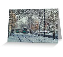 Never ending winter. Brookline, MA Greeting Card