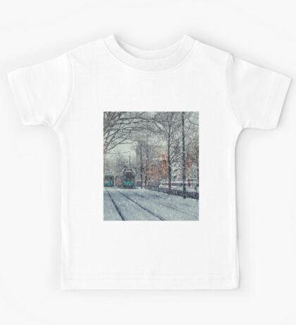 Never ending winter. Brookline, MA Kids Tee
