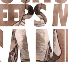 Jiu-Jitsu Keeps Me Sane Sticker