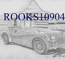 Triumph TR-3 SPORTS CAR ART PRINT by rooks10904