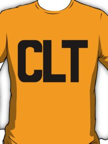 CLT Charlotte Douglas International Airport Black Ink T-Shirt