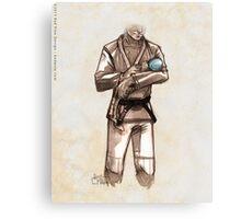 TYJJ - Thank You Jiu-Jitsu IMAGE - BLUE Canvas Print