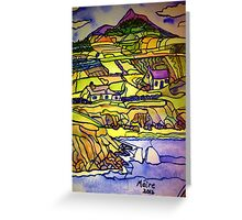 Hills, fields and seas of home Greeting Card