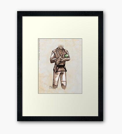 TYJJ - Thank You Jiu-Jitsu IMAGE - GREEN Framed Print