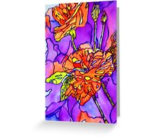 Roses Abstract Greeting Card