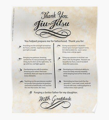 The TYJJ Manifesto (Thank You Jiu-Jitsu) DAUGHTER Poster