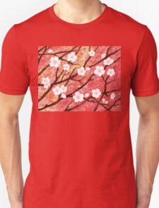 White Blossoms Sunrise Unisex T-Shirt