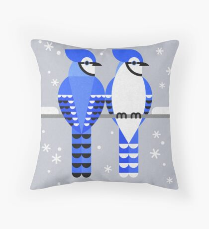 J is for Jay 2 Throw Pillow