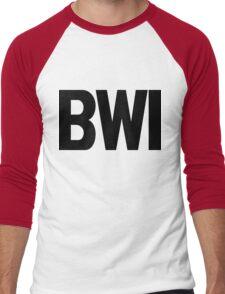 BWI Baltimore Washington International Airport Black Ink Men's Baseball ¾ T-Shirt
