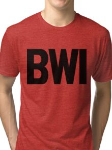 BWI Baltimore Washington International Airport Black Ink Tri-blend T-Shirt