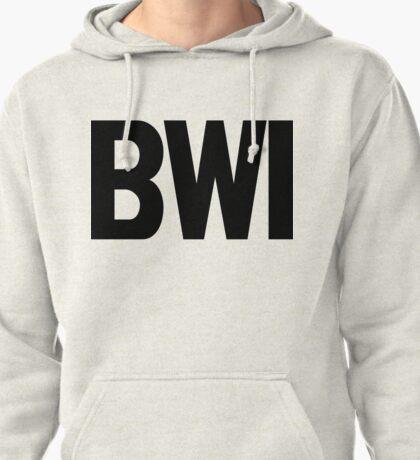 BWI Baltimore Washington International Airport Black Ink Pullover Hoodie
