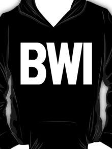 BWI Baltimore Washington International Airport White Ink T-Shirt